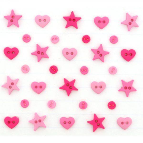 5797 Декоративные пуговицы. Горячий розовый | Dress it up США