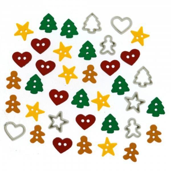 4851 Декоративные пуговицы. Канун рождества | Dress it up США