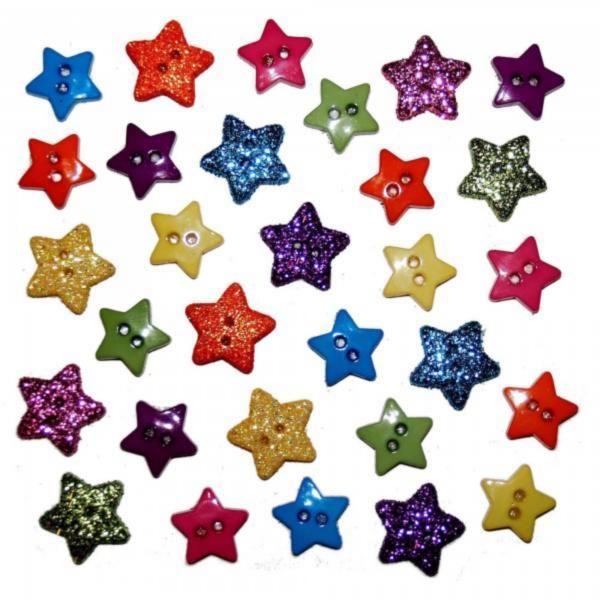 1633 Декоративные пуговицы. Крошечная звезда | Dress it up США