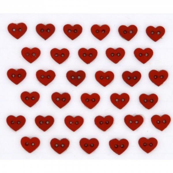 6399 Декоративные пуговицы. Миниатюрки - сердечки | Dress it up США
