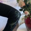 Женское платье черное с люрексом от Wisteria