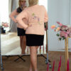 Женский кардиган персиковый с вышивкой от Wisteria