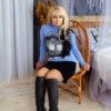 Свитер «Пушистик» голубой от Wisteria 4
