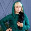 Свитер с капюшоном изумрудного цвета от Wisteria 3