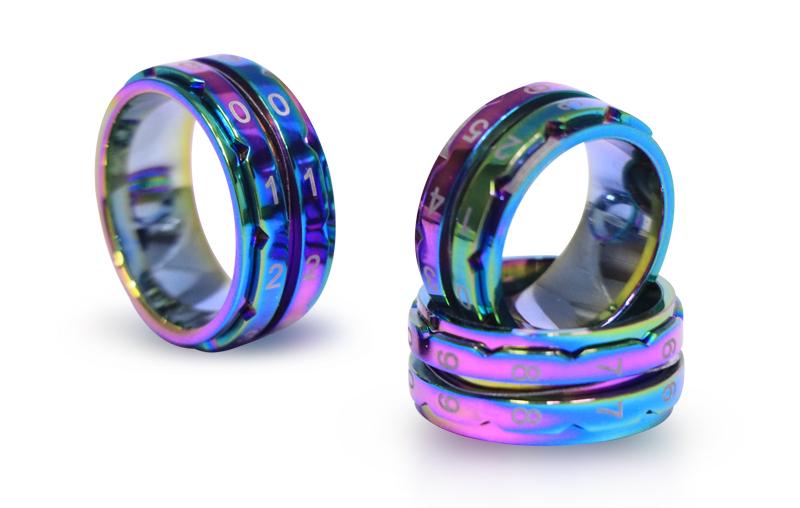 10431 Счетчик рядов Size7(17.3 мм Inner ID) Reinbow Row Counters Rings KnitPro