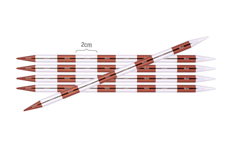 42033 Спицы носочные 6.00 мм - 20 см Smartstix KnitPro