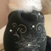 Шапка детская темно-серая с мехом песца от Wisteria 2