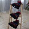 Темная шапка с мехом енота от Wisteria 3