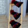 Темная шапка с мехом енота от Wisteria 2