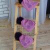 Шапка фиолетового цвета с мехом песца от Wisteria 2