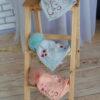 Шапка серая «Love» с мехом песца от Wisteria 2