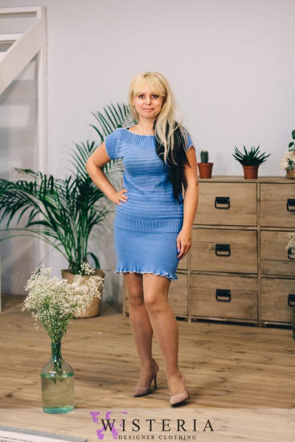 Женский костюм голубой от Wisteria