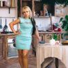 Женский костюм мятный с вышивкой от Wisteria 3