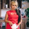 Женский костюм коралловый с вышивкой от Wisteria 2