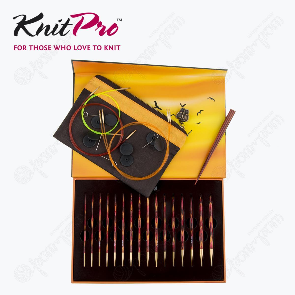 Подарочный набор съемных круговых спиц KnitPro «The Golden Light» 20635 7