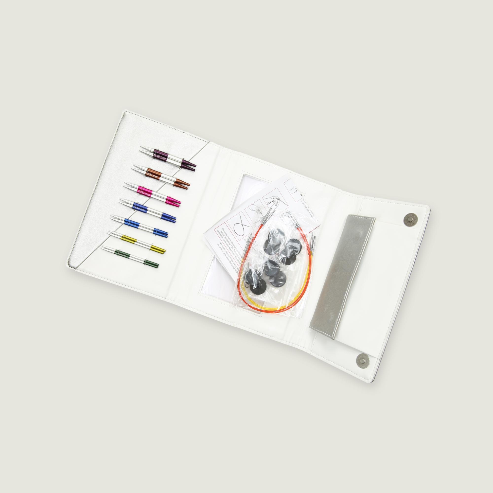 42161 Набор алюминиевых съемных коротких спиц «Deluxe» (Special) Smartstix KnitPro 3
