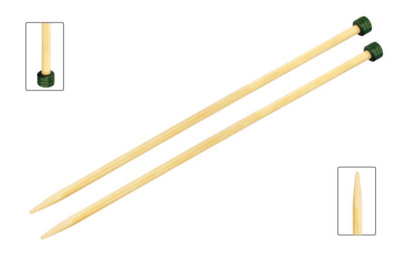 Спицы прямые 33 см Bamboo KnitPro, 22438, 4.00 мм