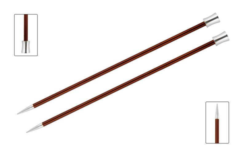 Спицы прямые 35 см Zing KnitPro, 47302, 5.50 мм