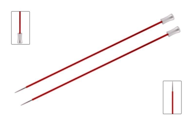 Спицы прямые 35 см Zing KnitPro, 47307, 9.00 мм