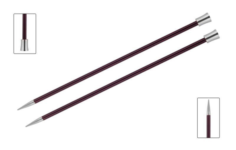 Спицы прямые 40 см Zing KnitPro, 47339, 12.00 мм