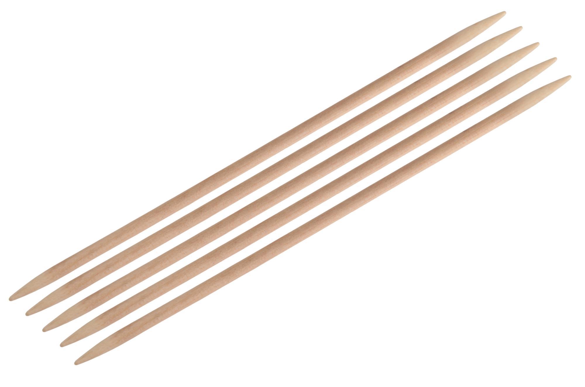 Спицы носочные 20 см Basix Birch Wood KnitPro, 35119, 5.00 мм