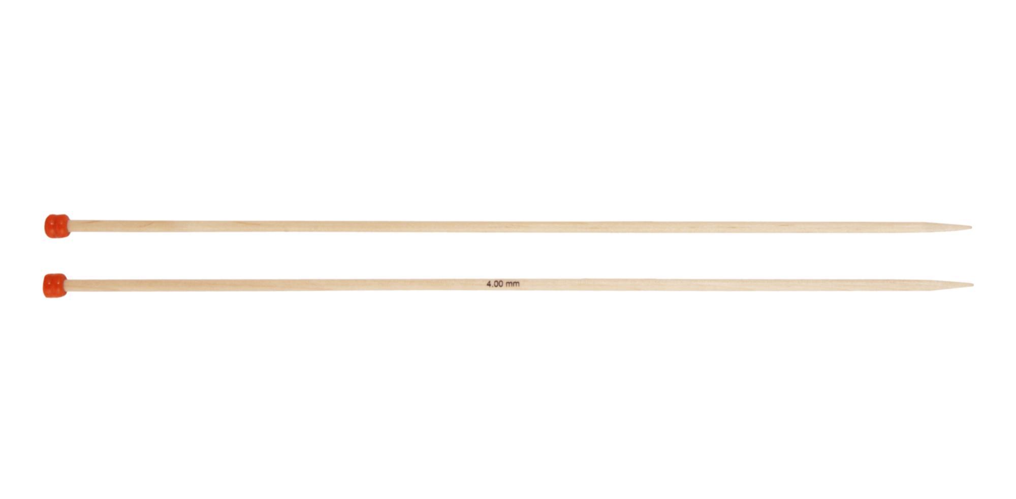 Спицы прямые 30 см Basix Birch Wood KnitPro, 35434, 4.00 мм