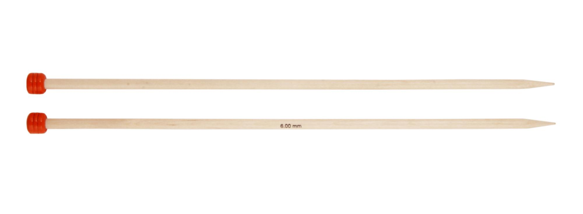 Спицы прямые 25 см Basix Birch Wood KnitPro, 35210, 8.00 мм