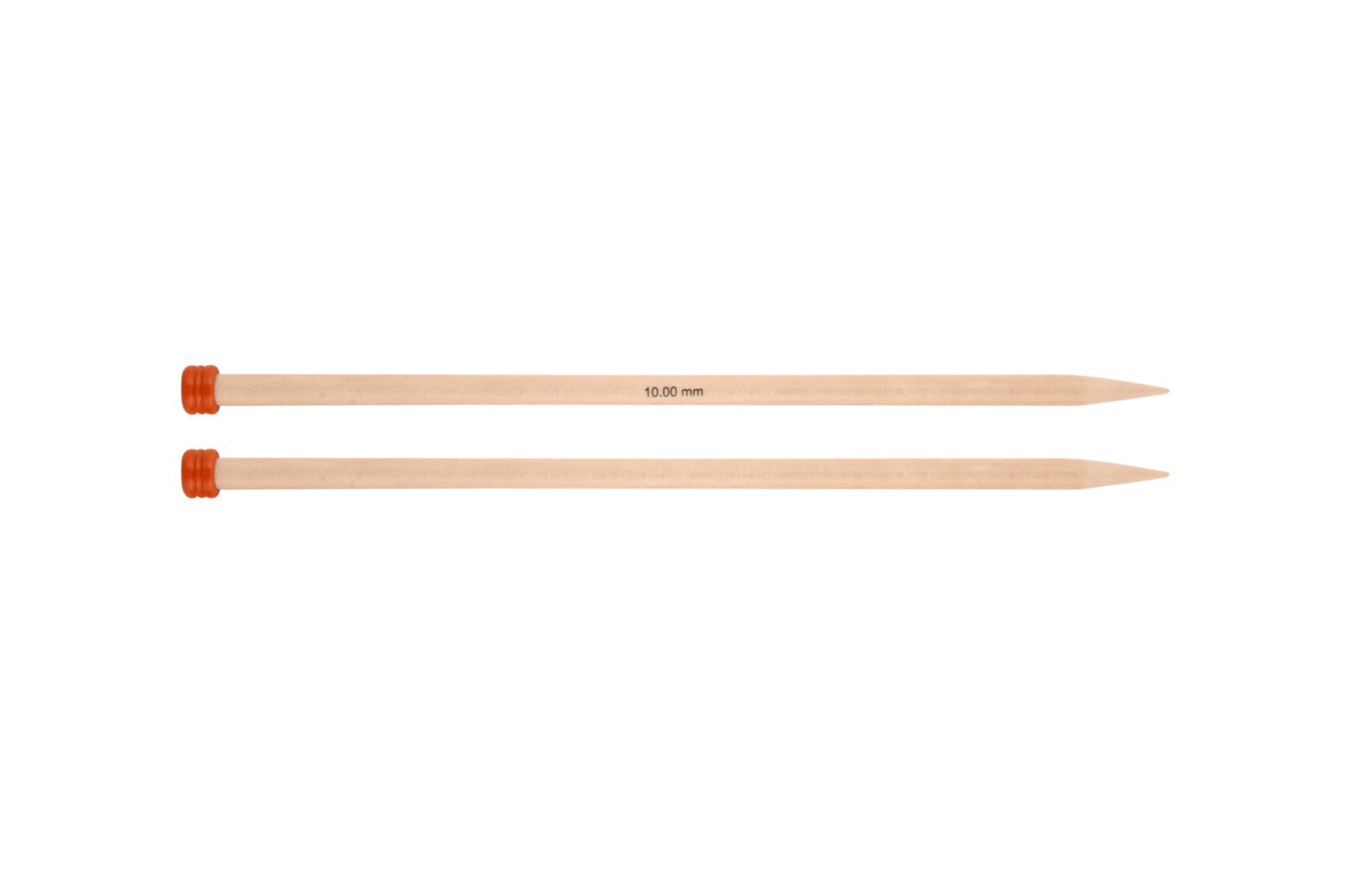 Спицы прямые 25 см Basix Birch Wood KnitPro, 35212, 10.00 мм
