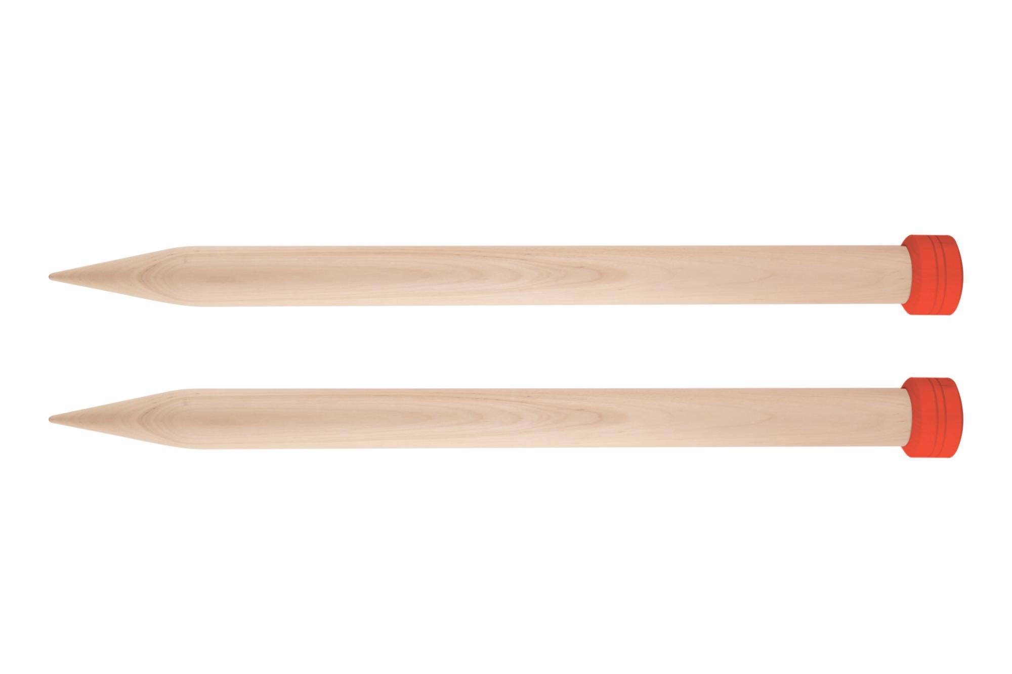 Спицы прямые 35 см Jumbo Birch KnitPro, 35271, 25.00 мм