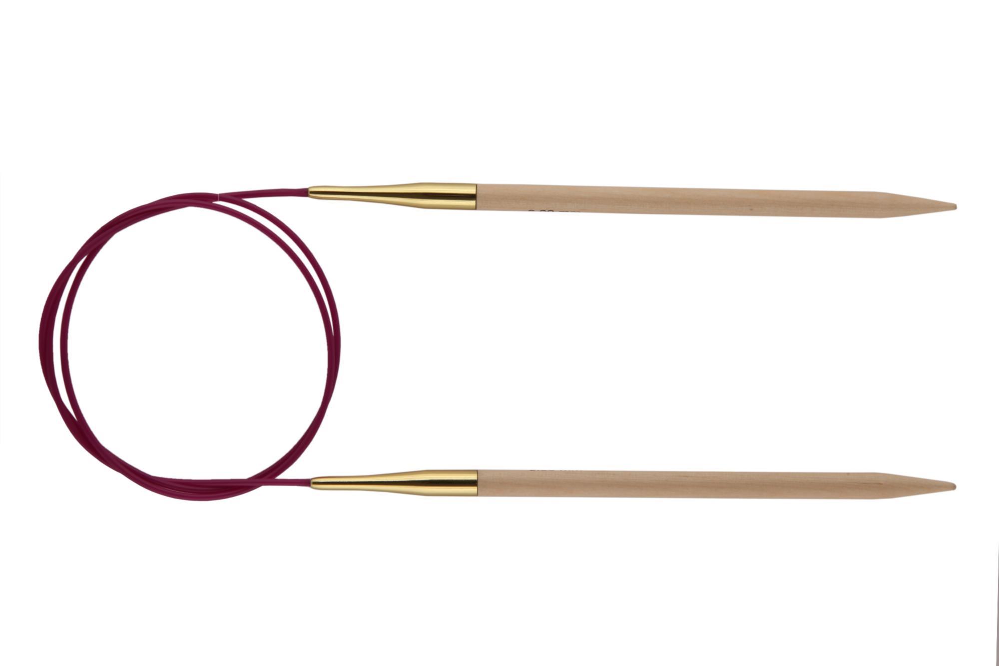 Спицы круговые 100 см Basix Birch Wood KnitPro, 35341, 5.50 мм