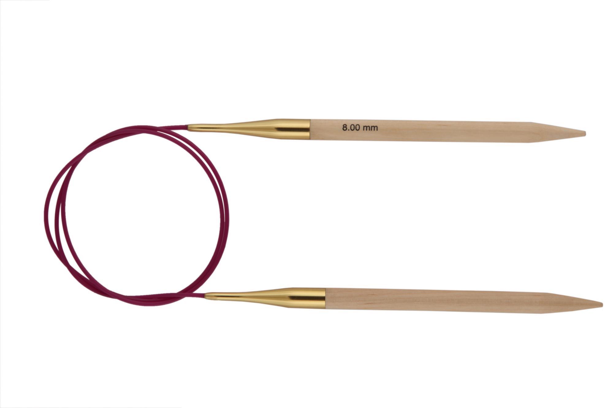 Спицы круговые 80 см Basix Birch Wood KnitPro, 35335, 8.00 мм