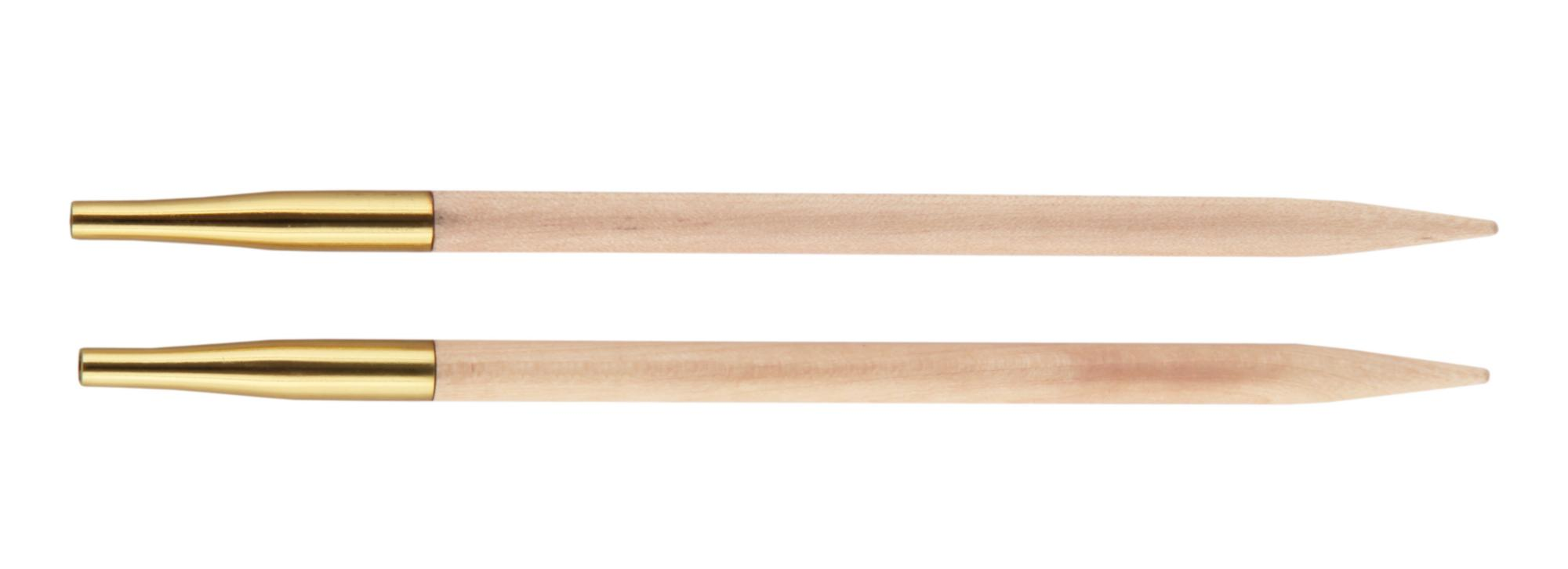 Спицы съемные короткие Basix Birch Wood KnitPro, 35654, 3.75 мм