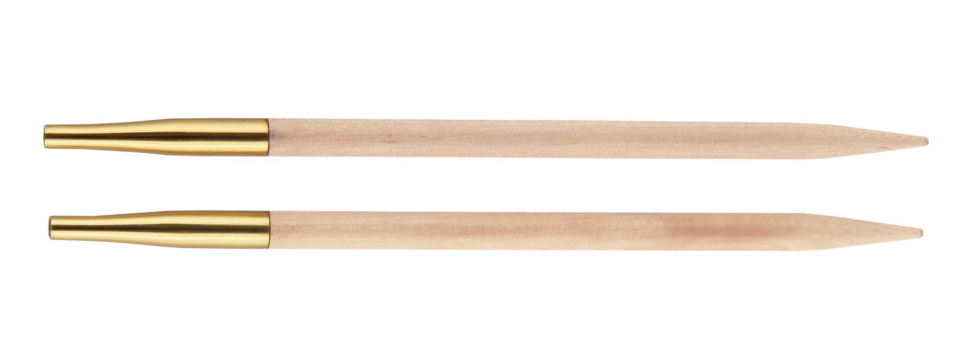Спицы съемные короткие Basix Birch Wood KnitPro, 35658, 5.50 мм
