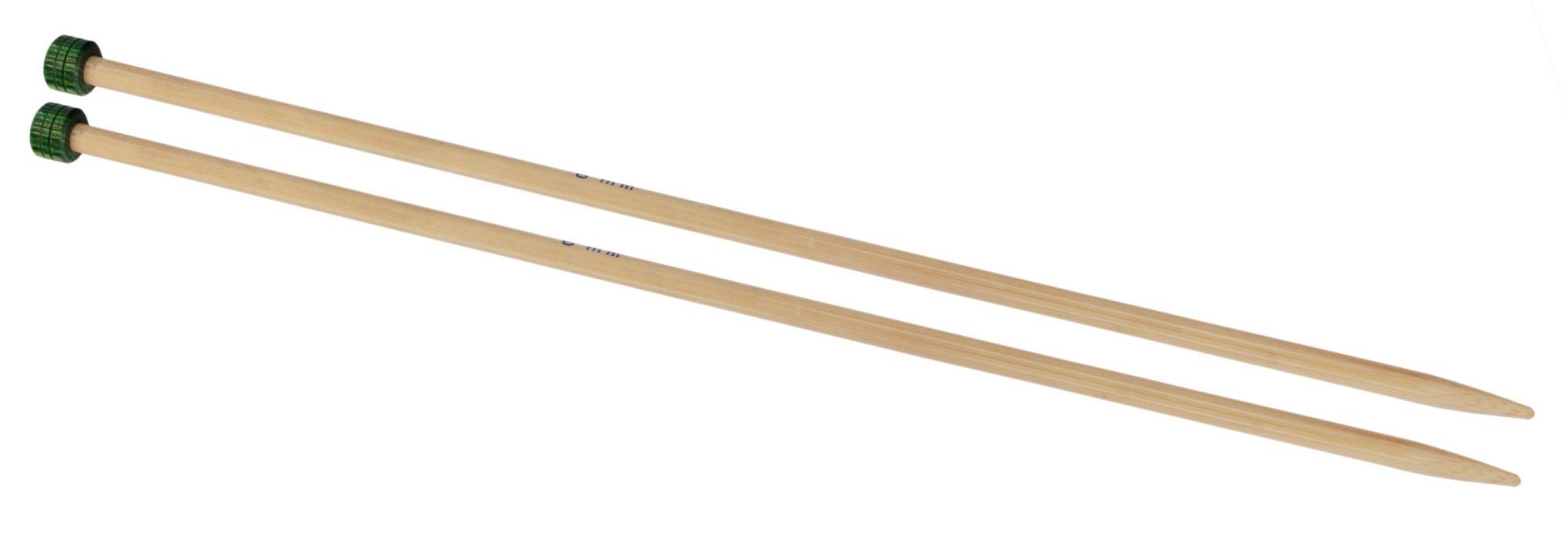 Спицы прямые 33 см Bamboo KnitPro, 22361, 6.00 мм