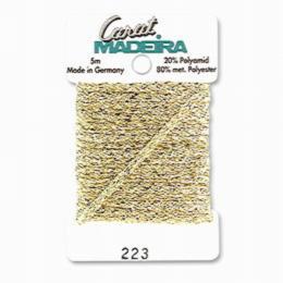 223/9724 Декоративная меттализированная тесьма Carat Madeira 4 мм*5м