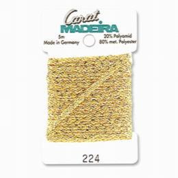 224/9724 Декоративная меттализированная тесьма Carat Madeira 4 мм*5м