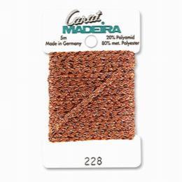 228/9724 Декоративная меттализированная тесьма Carat Madeira 4 мм*5м