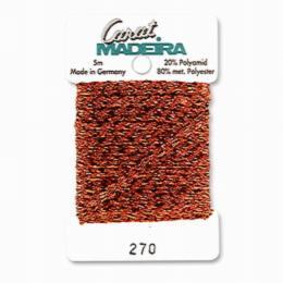 270/9724 Декоративная меттализированная тесьма Carat Madeira 4 мм*5м