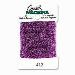 412/9724 Декоративная меттализированная тесьма Carat Madeira 4 мм*5м