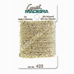 423/9724 Декоративная меттализированная тесьма Carat Madeira 4 мм*5м