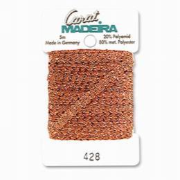 428/9724 Декоративная меттализированная тесьма Carat Madeira 4 мм*5м