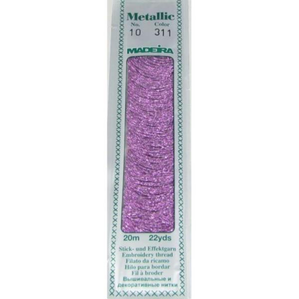 311 Мулине Madeira Metallic Perle №10, 2-х слойные, спираль 20м