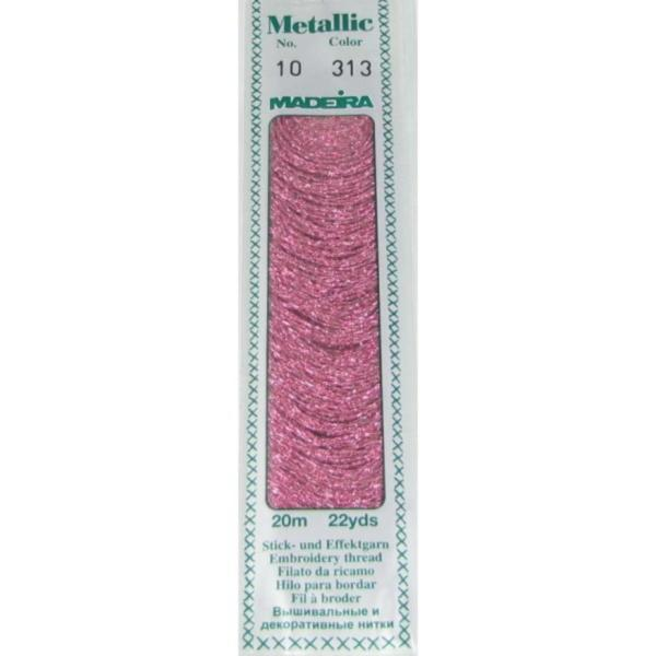 313 Мулине Madeira Metallic Perle №10, 2-х слойные, спираль 20м