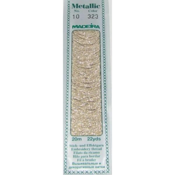 323 Мулине Madeira Metallic Perle №10, 2-х слойные, спираль 20м