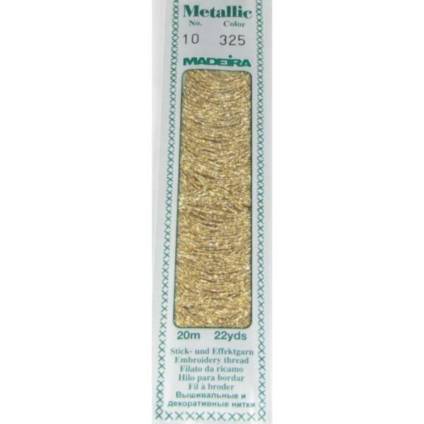 325 Мулине Madeira Metallic Perle №10, 2-х слойные, спираль 20м