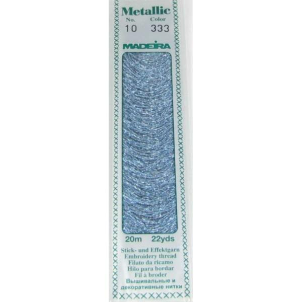 333 Мулине Madeira Metallic Perle №10, 2-х слойные, спираль 20м