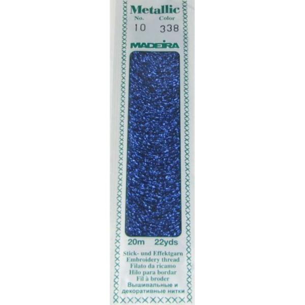 338 Мулине Madeira Metallic Perle №10, 2-х слойные, спираль 20м
