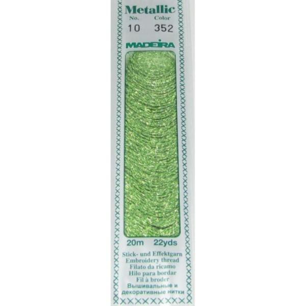 352 Мулине Madeira Metallic Perle №10, 2-х слойные, спираль 20м