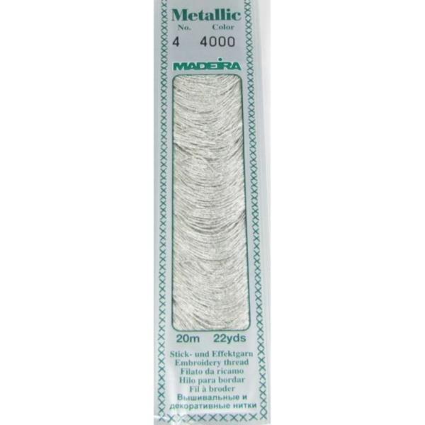 4000 Мулине Madeira Metallic Mouline №4, 4-х слойные, спираль 20 м.