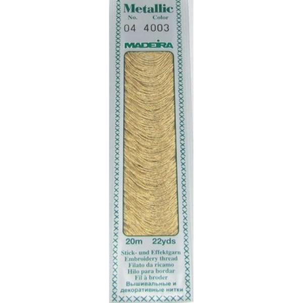 4003 Мулине Madeira Metallic Mouline №4, 4-х слойные, спираль 20 м.